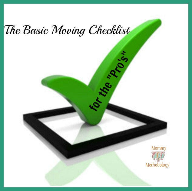 The Basic Moving Checklist for the Pro's