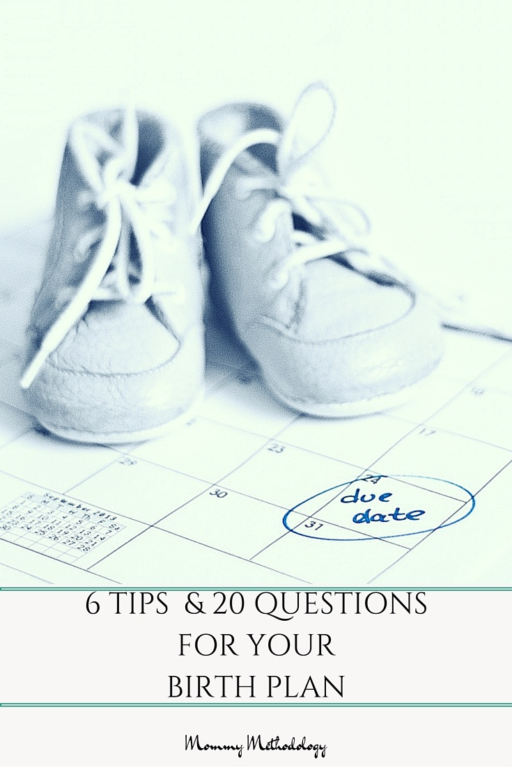 Do you know someone who is pregnant? Read my list of 6 tips and 20 questions to consider before completing a unique birth plan. And get a FREE Template.