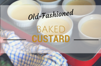 Old-Fashioned Baked Custard