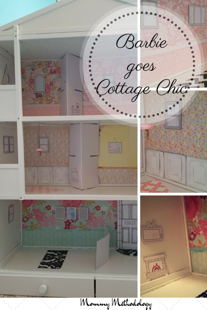 See this dollhouse go from Retro Barbie Glam to Cottage Chic with good use of recycling and repurposing. It's classic upcycling!