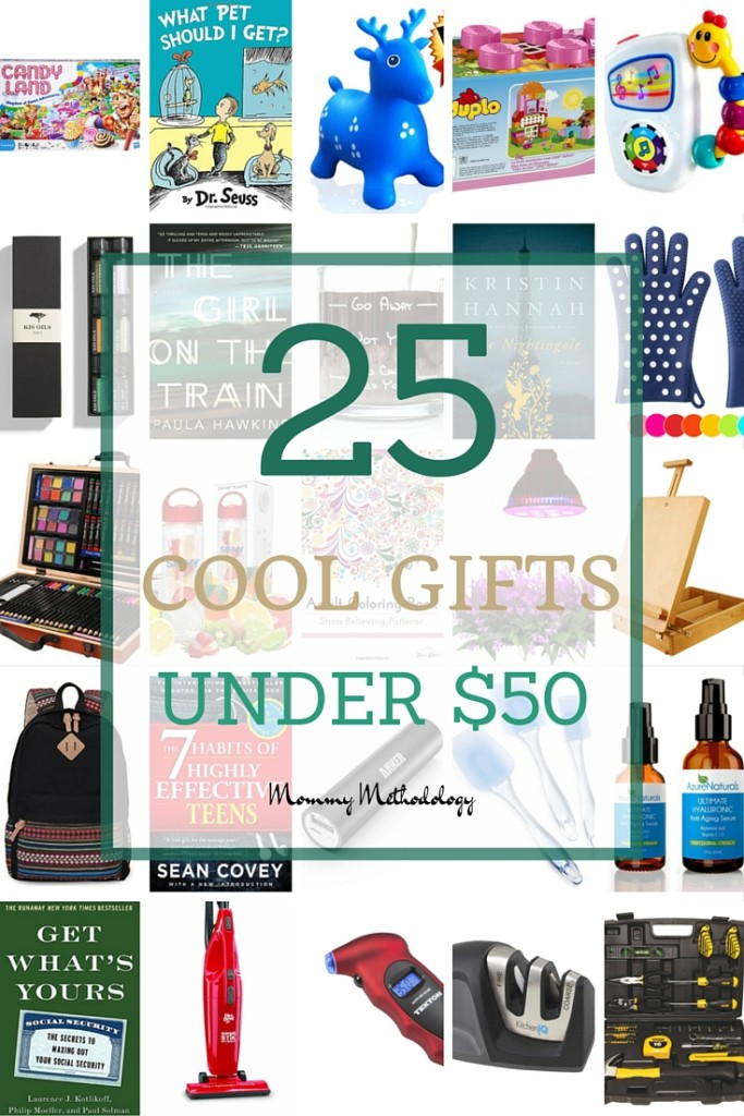 25 Cool Gifts Under $50 #gifts | Mommy Methodology