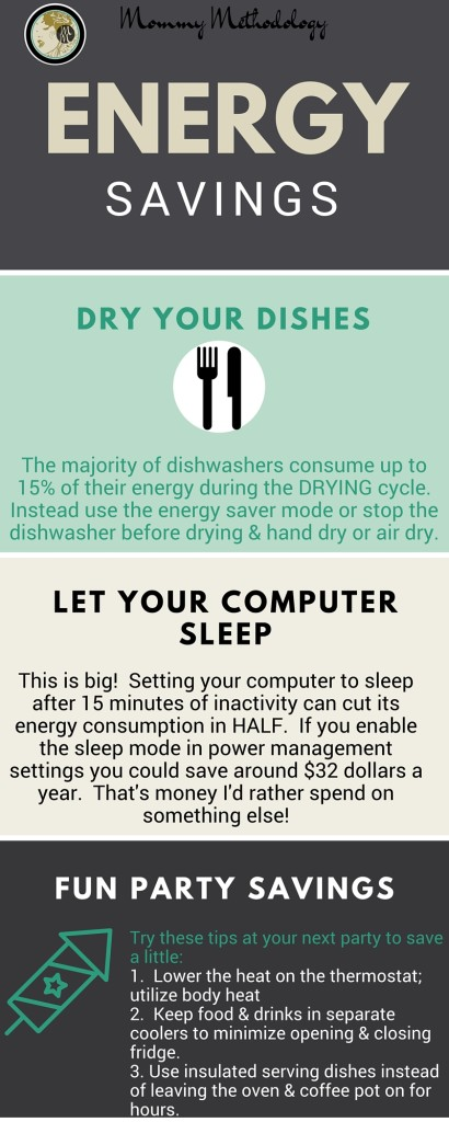 31 Days of Method in Madness Day 6 Method: Energy Conservation - Energy Savings Infographic-#write31days